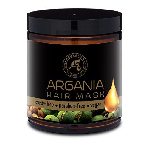 Arganöl Haarkur 250ml mit Naturreinem Arganöl und Kokosöl - Haarmaske für Alle Haartypen - Frei von Farbstoffen und Mineralölen - Argan Haarpflege