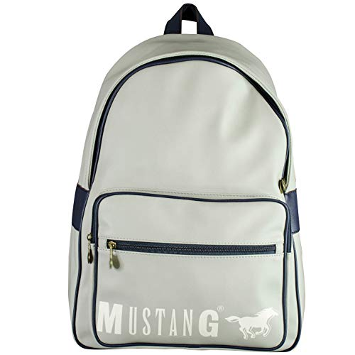 MUSTANG Herren Dayton Brad Backpack Mvz Rucksack, Grau (Light Grey), 14x45x32 cm