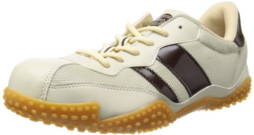 [サンダンス] 安全靴 軽量 スニーカー VP-2000 メンズ ベージュ/ブラウン 25.5