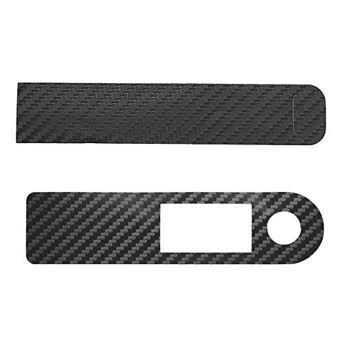 Viudecce Panel de Scooter EléCtrico PelíCula Protectora Antideslizante Impermeable de Fibra de Carbono Etiqueta Engomada del Acelerador para Mijia M365 Pro