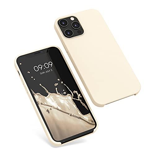 kwmobile Hülle kompatibel mit Apple iPhone 12 Pro Max - Hülle Handyhülle gummiert - Handy Hülle in Creme