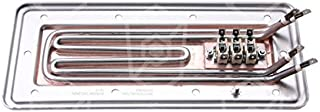 Invierno plana Contacto Radiador para lavavajillas, longitud de cinta lavavajilla 257mm 230V 1800W Ancho 112mm Altura 27mm con 2Círculos De Calefacción Y Termostato