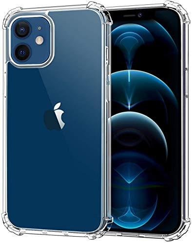 NANOMASS Cover Rinforzata per iPhone 12 e iPhone 12 PRO, Custodia Antiurto Rinforzata e AntiGraffio - Trasparente