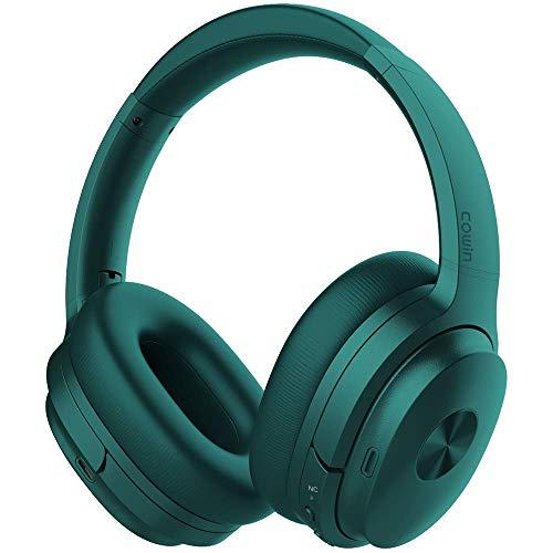 Cowin SE7 Cancellazione Attiva del Rumore Cuffie Bluetooth Senza Fili per PC/TV Over Ear Wireless Cuffie con Microfono 30 Ore Ricreazione Cuffie Pieghevoli per Viaggi/Lavoro