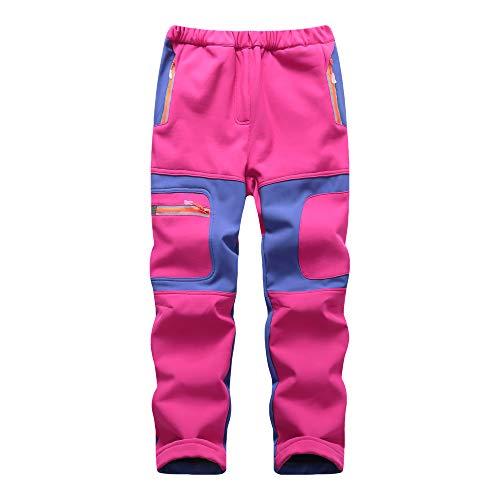 CAMLAKEE Pantalon Trekking Niño Invierno - Pantalones de Montaña Niña Impermeables con...