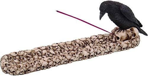 Nemesis Now Raven Skull Incense Burner 29cm Ivory