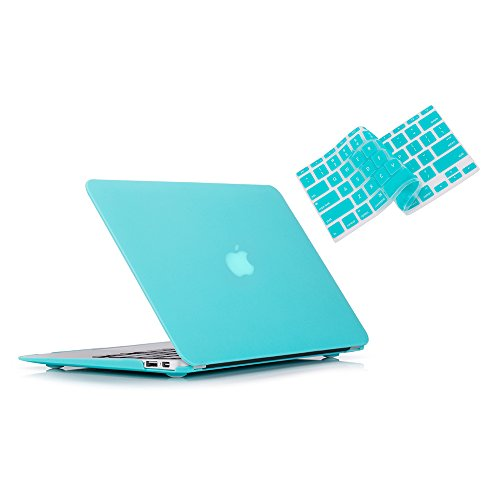 RUBAN Case Only Compatible with MacBook Air 13 Inch (Models: A1369 & A1466, Older Version 2010-2017 Release), Slim Snap On Hard Shell Protective Cover and Keyboard Cover, Turquoise