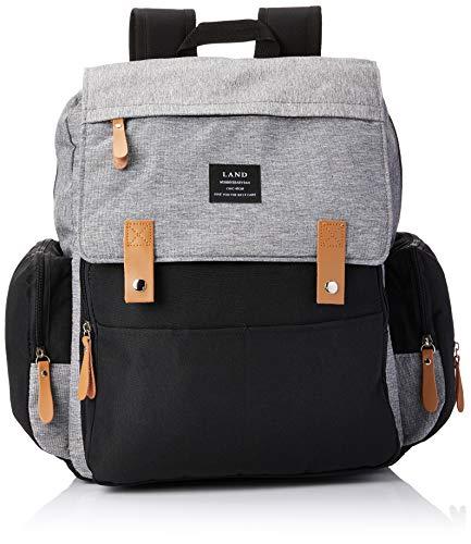 Bolsa mochila maternidade Land Luxury original preto cinza