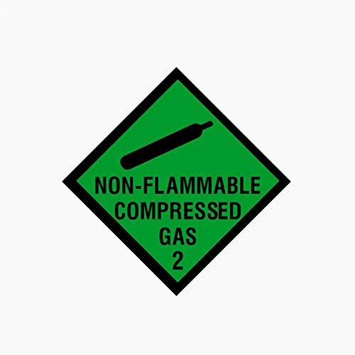 CTMNB Autosticker 10CM*10CM NON FLAMMABLE COMPRESSED GAS Reflecterende Sticker voor in de auto
