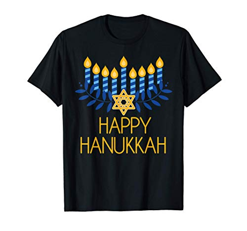 Happy Hanukkah Menorah Hannukah Pajamas Top For Family T-Shirt