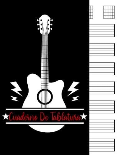 Cuaderno De Tablatura: Cuaderno de tablatura guitarra: 7 tabs por página. Ideal para músicos, estudiantes de guitarra, profesores de musica (120 páginas, A4). Cuaderno de musica para guitarra.