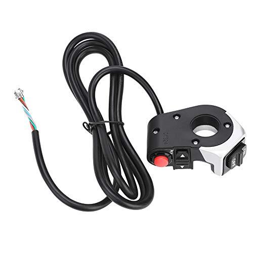 Changor Interruptor de la lámpara Ebike a Prueba de Lluvia, Calidad de plástico de Calidad Hecho de plástico para Bicicleta eléctrica (Negro)