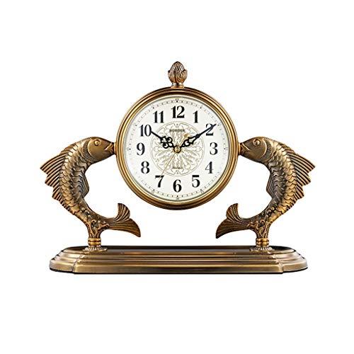 Reloj de mesa Reloj de escritorio Sala de estar Casa Desktop Clock Péndulo Reloj de escritorio Escritorio Reloj Europeo Reloj Adornos Dormitorio Retro Mesa de noche Reloj Reloj de decoración de interi
