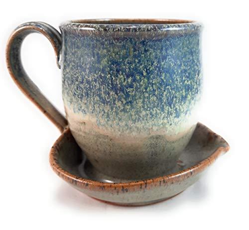 Midnight Sun Pottery Microwave Bacon Cooker - Blue Ridge Beige
