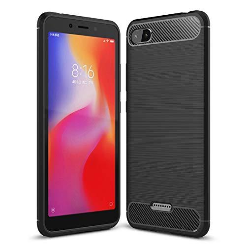 Price comparison product image Wangl Xiaomi Cases Brushed Texture Carbon Fiber Shockproof TPU Case for Xiaomi Redmi 6A Xiaomi Cases (Color : Black)