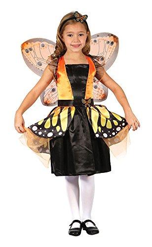 Bristol Novelty CC287 Costume de fée Papillon, Orange, Taille, Grand