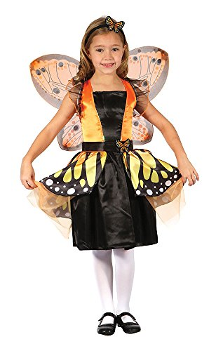 Bristol Novelty- CC287 Costume de fée Papillon, Orange, Taille, Grand