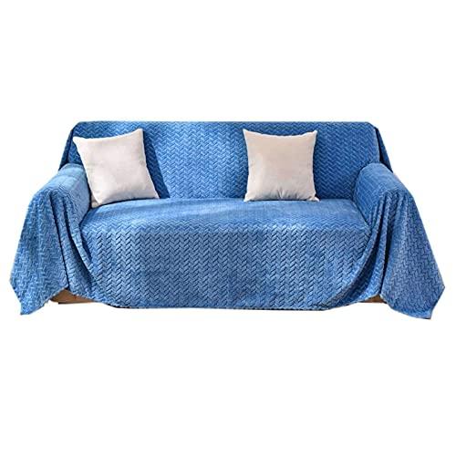 DFJU Funda de sofá de Color sólido, Terciopelo, Protector de Muebles, Universal, Espesa, para sofá de 3 Cojines, Suave, Lavable, para Sala de Estar, sofá cama-170x280cm-beige