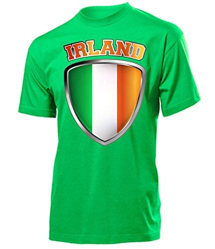 Irland Ireland Fanshirt Fussball Fußball Trikot Look Jersey Herren Männer t Shirt Tshirt t-Shirt Fan Fanartikel Outfit Bekleidung Oberteil Hemd Artikel