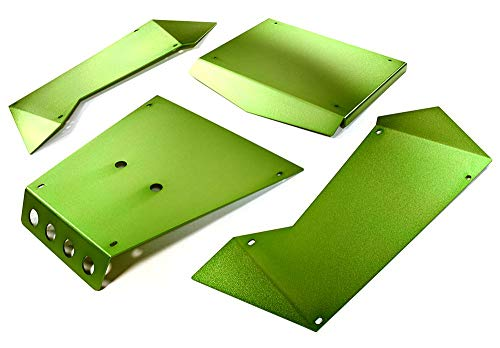 Integy RC Model Hop-ups C27004GREEN Aluminum Alloy Panel Kit for Axial 1/8 Yeti XL Rock Racer Buggy