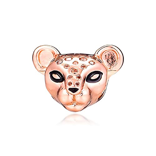 LISHOU Mujer Pandora S925 Sterling Silver Queen Lioness Fashion Lion Rose Golden Summer S Charms Bead Fashion Girl Pulsera Collares Fabricación De Joyas DIY