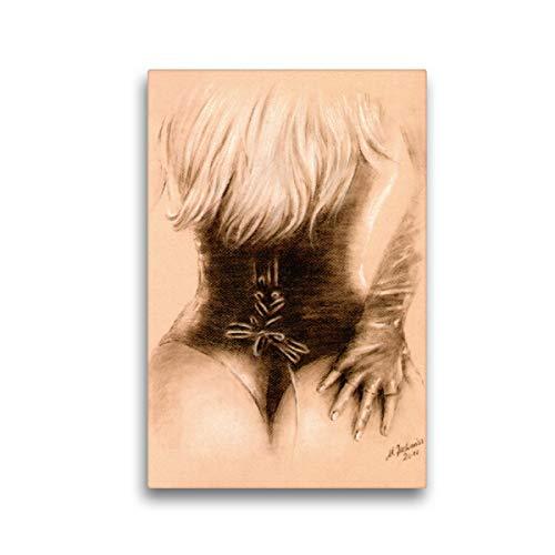 Premium Textil-Leinwand 30 x 45 cm Hoch-Format Sexy Girl in Dessous   Wandbild, HD-Bild auf Keilrahmen, Fertigbild auf hochwertigem Vlies, Leinwanddruck von Marita Zacharias
