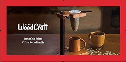Gamuza de franela Filtro de café, colador (reutilizable, bolsa), Costa Rica Handmade, Calcetín de café con mango de madera para Premium tradicionales de madera Costa Rica Drip coffee maker -3Pack