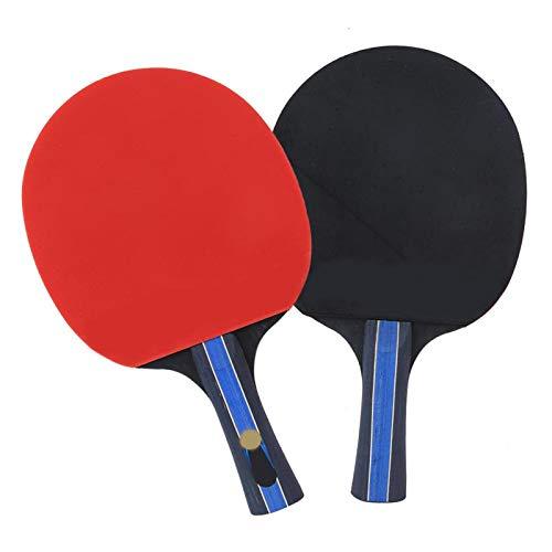 DAUERHAFT Pelota de Ping Pong, Tenis de Mesa, Reduce el estrés, Red de Tenis de Mesa, Raquetas Ligeras, operativas, retráctiles para Entretenimiento y Juegos Diarios