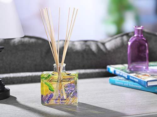 Yankee Candle 1348799E Lemon Lavender Firma Reed Diffusori, Legno, Multicolore, Signature Diffuser
