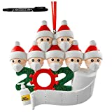Sallyohno Christbaumschmuck Personalisiert Überlebt Familie Von Ornament 2020 Weihnachten Urlaub Dekorationen Anhänger (C+ 1pen)