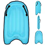 Riiai Yellow Bodyboards for Kids Inflatable Surf Boards Floating Surfboard Light Flexible Child