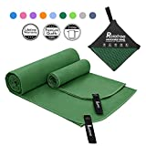 Relefree Microfiber Towel, Sports & Travel Towel - Fast Drying, Super Ultra Absorbent, and Compact Suitable for Camping, Beach, Gym, Swimming, Backpacking