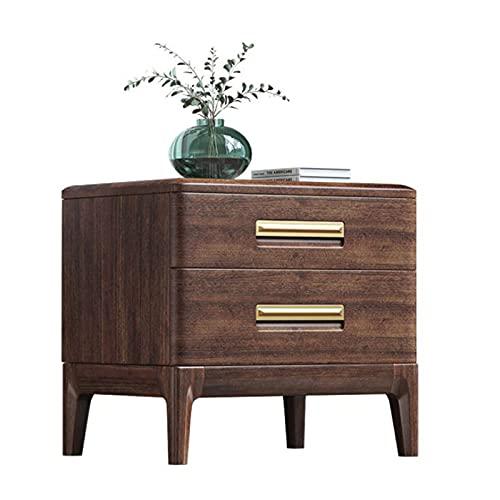 Tutte le comodini in legno massello, armadi laterali in noce, armadietti di lusso semplice e leggero, mini armadietti della camera da letto, cornici in legno massello, forte capacità di cuscinetto