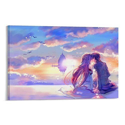 EWJHB Sword Art Online Canvas Art Poster and Wall Art Picture Print Modern Family Bedroom Decor Posters 12x18inch(30x45cm)