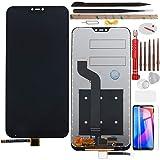 YHX-OU 5,84 pulgadas para Xiaomi Mi A2 Lite Redmi 6 Pro de reparación y sustitución de pantalla LCD táctil digitalizador y herramientas de instalación + 1 pieza de cristal templado (negro)