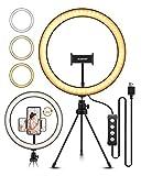 ELEGIANT LED Ringlicht Stativ,10.2' Selfie Ringleuchte Makeup dimmbar 3 Lichtfarben+11 Helligkeitsstufen erstellbar Stativstab Handyhalter für Tiktok YouTube Live-Stream Selfie Portrait Volg Schminken
