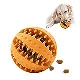 HORYDIA Giochi per Cani Cuccioli Interattivi Giocattoli da Masticare per Cani per Mantenere la Bocca Pulita e Denti sani Giocattoli per Cani Indistruttibile in Gomma Naturale - Palla/Manubri.