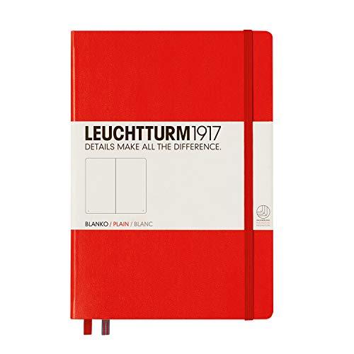 LEUCHTTURM1917 309141 Notizbuch Medium (A5), Hardcover, 251 nummerierte Seiten, Rot, blanko