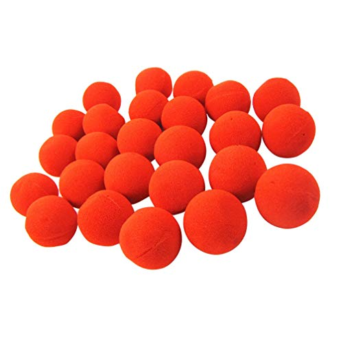 NUOBESTY 24 Piezas de Esponja Roja Narices de Payaso Accesorios de Disfraces de Payaso Favores de Fiesta Suministros para Niños Adultos