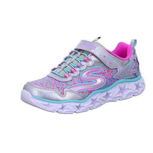 Skechers Girl's 10920L Trainers, Multicolour (Silver/Multicolour), 1.5 UK (34 EU)