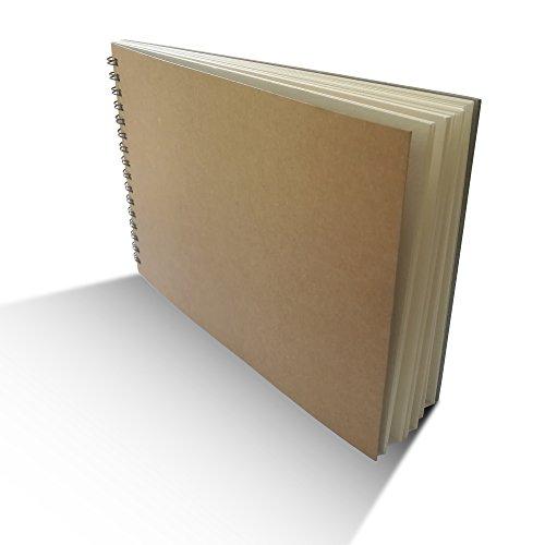 Eachgoo Skizzenbuch, Kunst Spirale gebunden 100% Recycling Zeichenpapier-A5 Querformat