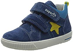 Superfit Baby Jungen Moppy Sneaker, (Blau/Gelb 80), 25 EU