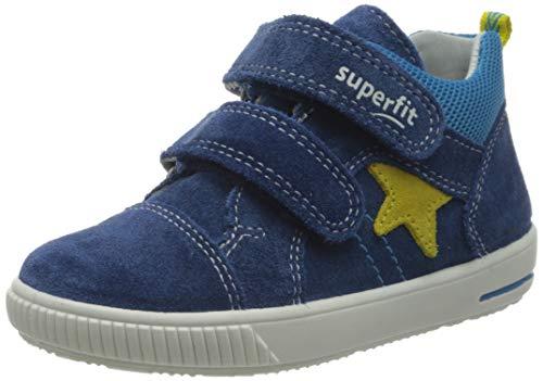Superfit Baby Jungen MOPPY Sneaker, (Blau/Gelb 80), 26 EU