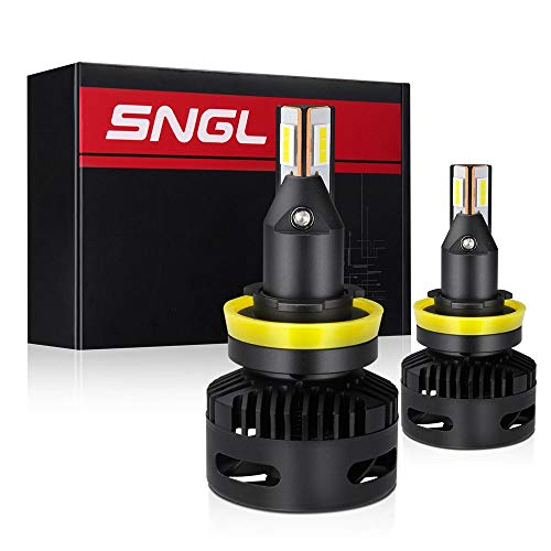 SNGL Projector-Specific Version H11 LED Headlight Bulb Low Beam Conversion Kit Max 15200LM 6000K Xenon White