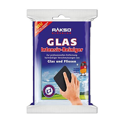 RAKSO Glas-Intensivreiniger Edelstahlwolle Kratzfrei Scheibenreiniger Glasreiniger & Fliesenreiniger für Wand/Boden-Reiniger 1 St