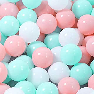 Mathenia, 100pcs Soft Plastic 7cm Ocean Ball Funny Baby Kids Swim Pit Pool Ball Toys Mix Color