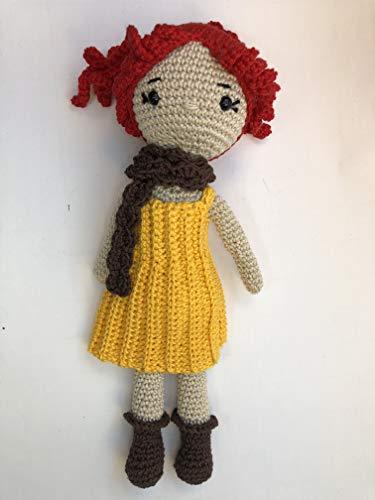Peluche poupée 28cm crochet en coton pour enfant
