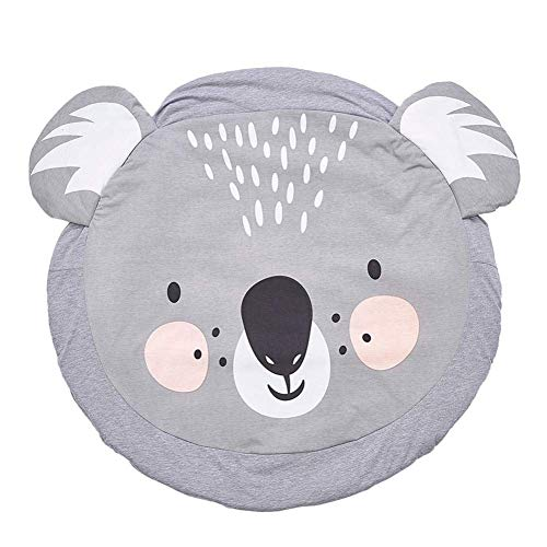 Queta Krabbeldecke Kuscheldecke aus Baumwolle Weiche Schlafteppich Cartoon Baby Spielmatte Spieldecke 90cm (Koala)