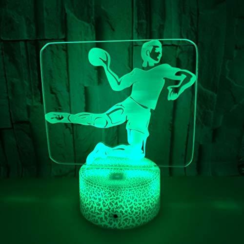 Nachtlicht Tischleuchte Schreibtischlampe Kleinkind Schlafzimmer Nachtnachtlicht Mond Handball Tischlampe Weihnachtsdekoration Fernbedienung Farben ändern (Color : B)