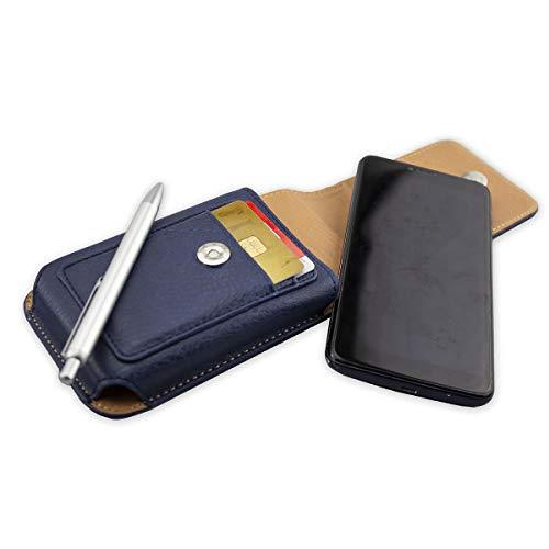 caseroxx Handy Tasche Outdoor Tasche für Hisense A2 Pro, mit drehbarem Gürtelclip in blau